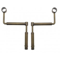 Support Tringle Sans Percage D20 Et 19mm + Adaptateur 16 Bronze Sans Percage