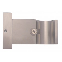 Support Tringle Ouvert D28 Saillie 65mm Nickel Mat