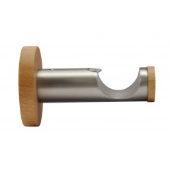 Support Tringle Ouvert D28 Saillie 65mm Nickel Brosse Miel