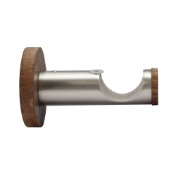 Support Tringle Ouvert D28 Saillie 65mm Nickel Brosse Cacao