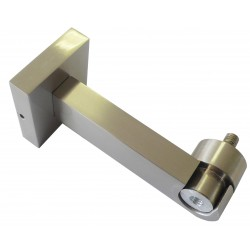 Support Tringle Ouvert D28 Saillie 100mm Nickel Mat