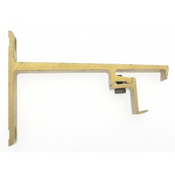 Support Face 24x16 Saillie 80mm Decor Laiton  Supports Face