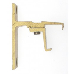 Support Face 24x16 Saillie 40mm Decor Laiton  Supports Face