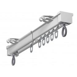 Rail Tringle avec Accessoires Blanc 19,5x13