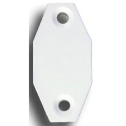 Poulie Bas pour tringles 24x16mm Blanc Poulies