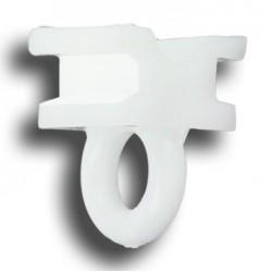 Glisseur Œillet pour tringle 15x10mm Blanc