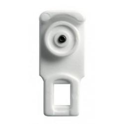Galet Suspendeur avec axe acier pour tringle 24x16mm Blanc