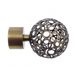 Embout Tringle à Rideau D28 Sinope Bronze