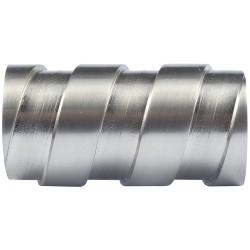 Embout Tringle à Rideau D28 Lacet Nickel Mat