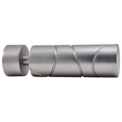 Embout Tringle à Rideau D28 Cylindre Croise Nickel Givre