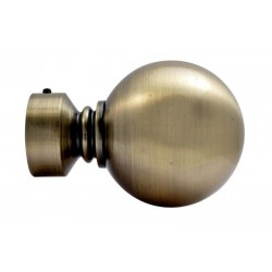 Embout Tringle à Rideau D28 Boule Bronze