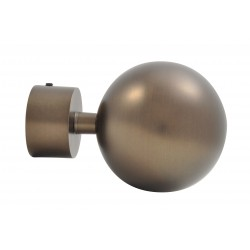 Embout Tringle à Rideau D28 Boule Antic Bronze