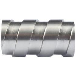 Embout Tringle à Rideau D20 Lacet Nickel Mat