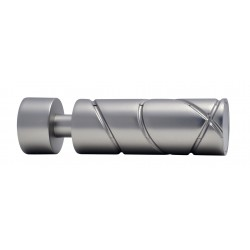 Embout Tringle à Rideau D20 Cylindre Croise Nickel Givre