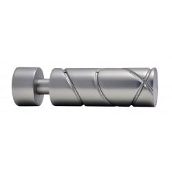 Embout Tringle à Rideau D20 Cylindre Croise Nickel Givre