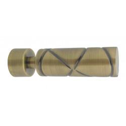Embout Tringle à Rideau D20 Cylindre Croise Bronze