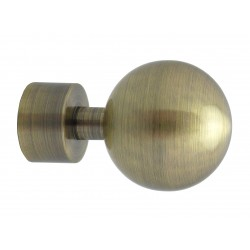 Embout Tringle à Rideau D20 Boule Bronze