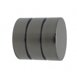 Embout D19 Cylindre Strie Nickel Noir Embouts Cylindre Strié