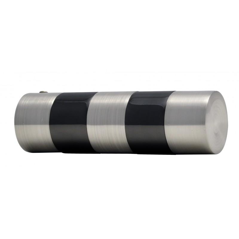 embout tringle rideau d19 cylindre nickel brosse noir. Black Bedroom Furniture Sets. Home Design Ideas