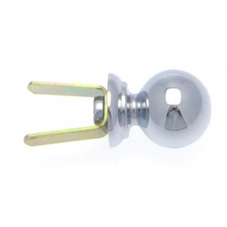 Embout Tringle à Rideau D16 Contemporain+Clip Chrome