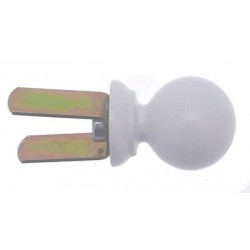 Embout Tringle à Rideau D16 Contemporain+Clip Blanc
