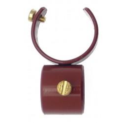 Collier D28 pour Tige 20mm Laque Merisier pour Tringle à Rideau