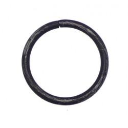 Anneau Tringle Simple D30x38 Noir Brosse