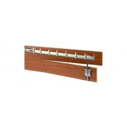 Tige Portiere 120 cm Droit Zingue pour Tringle à Rideau