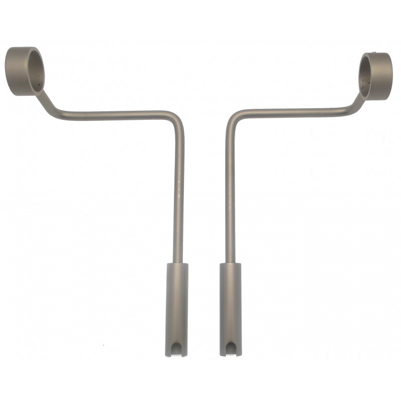Support Tringle Sans Percage 28mm Adaptateur 25 Nickel Givre Sans Percage