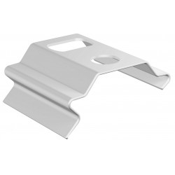 Support Tringle Plafond Clip 20x14 Blanc