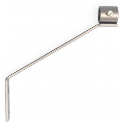 Support Tringle Jambe De Force Pour Tige 16 Nickel Mat