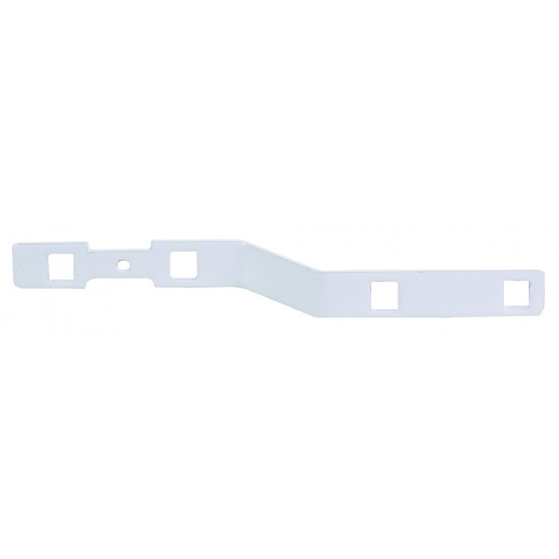 Patte de croisement acier pour tringle 24x16 Blanc