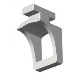 Glisseur Suspendeur pour tringle 20x14mm Blanc Glisseurs