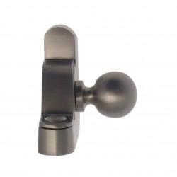 Embout Tringle à Rideau et Consoles Droite et Gauche D12.7mm Boule Nickel Mat