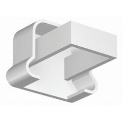 Embout Tringle à Rideau 20x14 Blanc