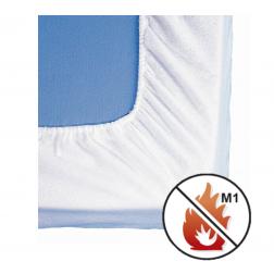Alèze Non Feu Satin Blanc Housse Protection de Literie - Alèzes