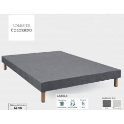 SOMMIER COLORADO GRIS Non Feu Tapissier Hôtel Accueil