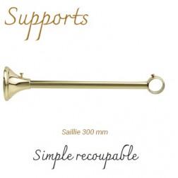 Support Tringle Classique D35 Saillie 300mm Laiton Verni