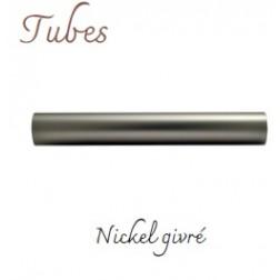 Tube Tringle Rond D28mm Nickel Givré (Brossé)